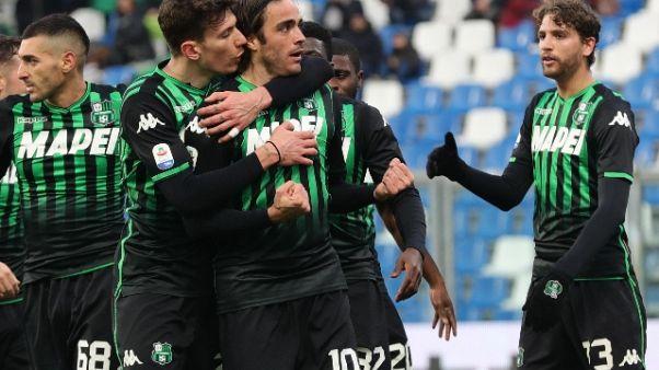 Serie A: Sassuolo-Cagliari 3-0