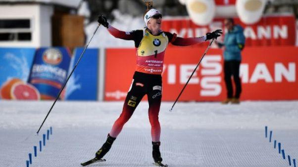 Biathlon: Boe encore impérial, Guigonnat et Fillon-Maillet sur le podium, à Anterselva