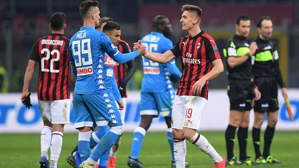 Napoli frustrated in 0-0 draw at Milan