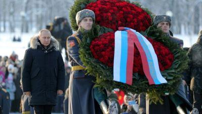 """Russie: Poutine célèbre l'esprit """"imprenable"""" de Leningrad"""