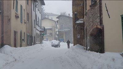 Codice giallo per neve in Toscana