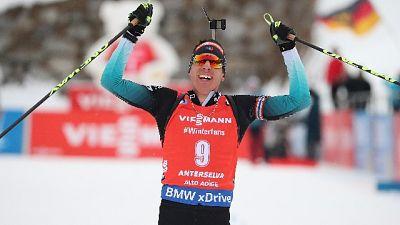 Biathlon: Maillet vince ad Anterselva