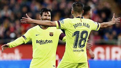 Liga: Barca vince a Girona