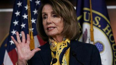 Nancy Pelosi au Capitole le 24 janvier 2019