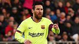 ميسي يسجل مجددا في فوز برشلونة وريال يحقق فوزه الثالث على التوالي