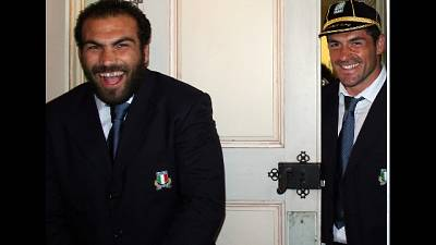 Rugby: azzurri a Roma al pub di Perugini