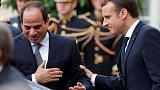 Macron tells Sisi human rights go together with stability