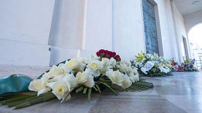 Folla ai funerali di Stefania Crotti