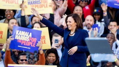 La sénatrice Kamala Harris, le 27 janvier à Oakland (Californie)