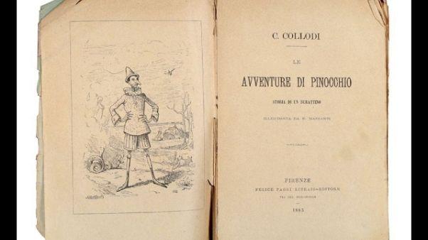 Libro che fece vedere Pinocchio all'asta