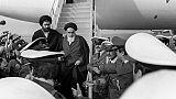 L'ayatollah Khomeiny arrive à l'aéroport de Téhéran le 1er février 1979