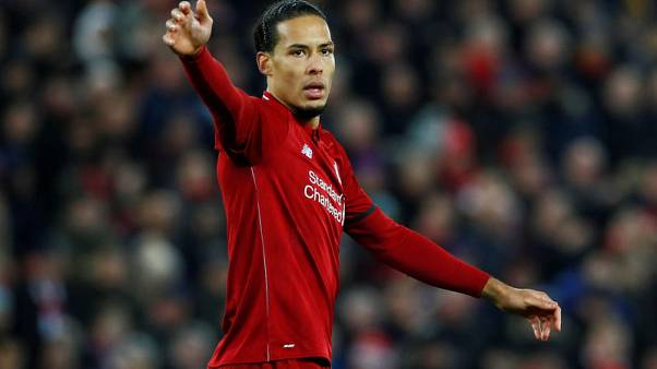 Liverpool's van Dijk in doubt for Leicester game