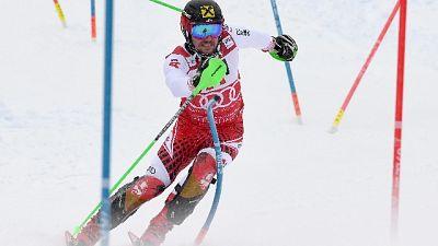 Sci: Hirscher in testa slalom Schladming