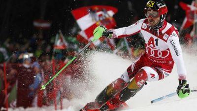 Slalom de Schladming: Noël éliminé, Pinturault 3e derrière Hirscher après la 1re manche