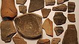Reperti archeologici trovati in valigia