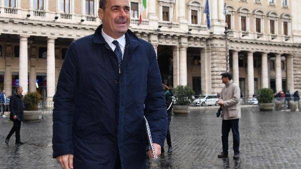 Pd: voto circoli, Zingaretti al 47,95%