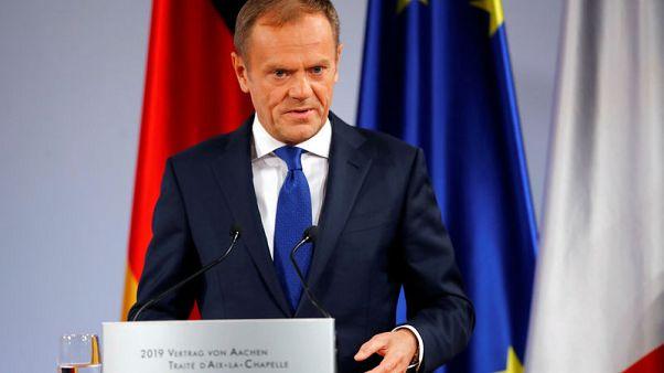 توسك: اتفاق بريكست ليس مفتوحا لإعادة التفاوض