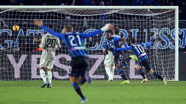 Atalanta's Zapata sends holders Juventus crashing out of Coppa