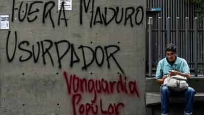 Graffiti anti-Maduro, le 1er février 2019 à Caracas