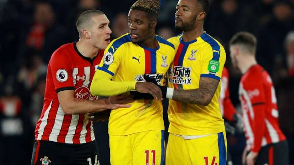 Palace forward Zaha apologises for red card against Southampton