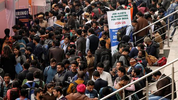 Indian jobless rate at multi-decade high, report says, in blow to Modi