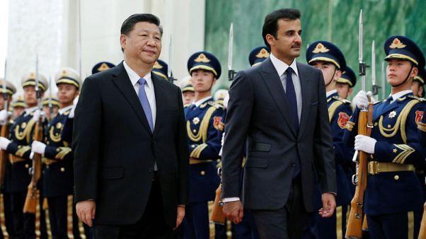 China calls for harmony as it welcomes Qatar emir amid Gulf dispute