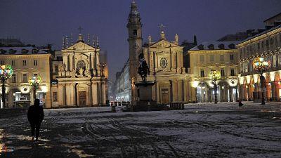 Maltempo, è allerta neve sul Piemonte