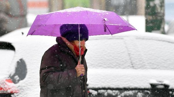 Allerta neve su Milano