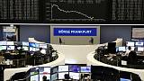 European shares edge up as strong earnings overcome China worries