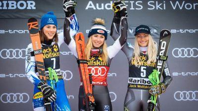Ski: Mikaela Shiffrin règne avec partage sur Maribor