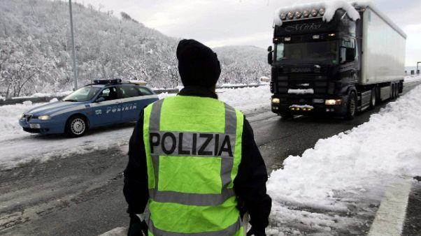 Autobrennero chiusa per neve in A.Adige