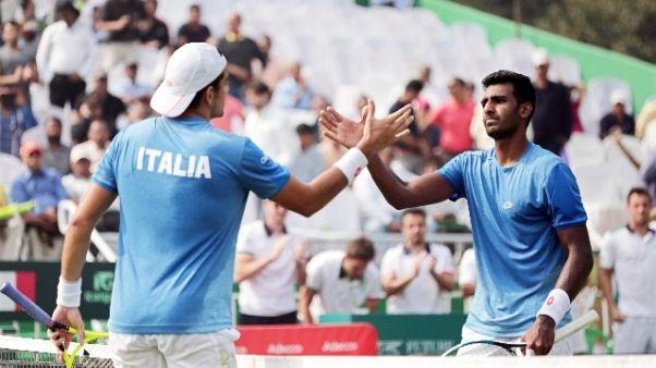 Davis, doppio a India,ora 1-2 con Italia