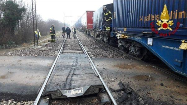 Scontro tra treni merci a Castelfranco