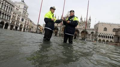 Venezia, acqua alta a 113 centimetri