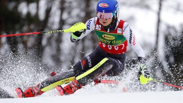 Sci: Shiffrin vince anche slalom Maribor