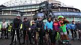 Adventurers saddle up for seven-month cycle to World Cup