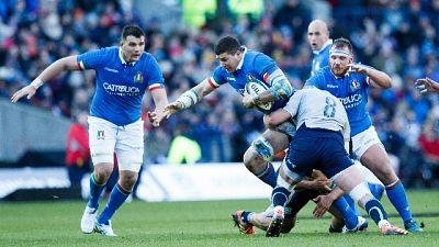 Rugby: 6 Nazioni, Scozia-Italia 33-20