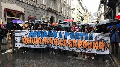 CasaPound apre sede.No di 'Antifascisti'