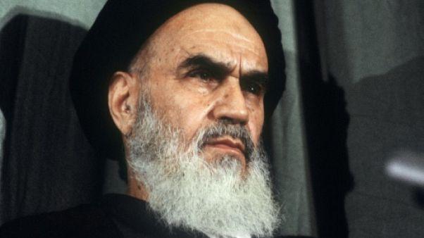 L'ayatollah Khomeiny le 5 février 1979 à Téhéran