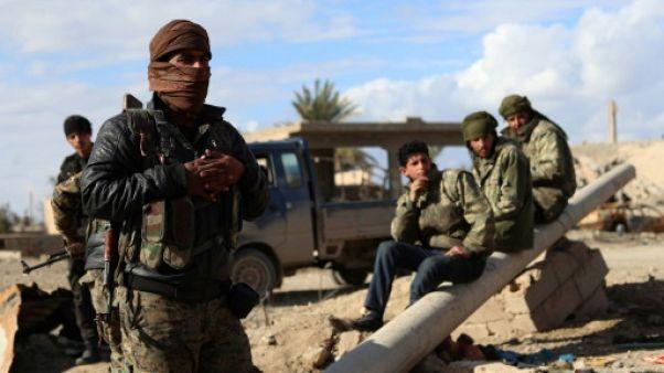 """Syrie: dans l'ultime réduit de l'EI, le recours jihadiste aux """"boucliers humains"""""""