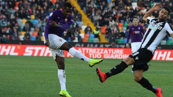 Serie A: Udinese-Fiorentina 1-1
