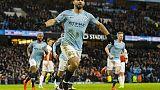 Tris Aguero, City batte l'Arsenal