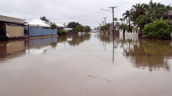 Une des rues inondées de  Townsville, le 4 février  2019
