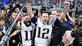 Tom Brady (n°12), vainqueur dimanche de son sixième Super Bowl