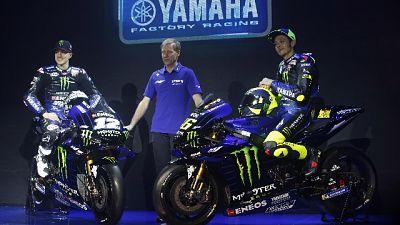 """Yamaha nera e blu, Rossi """"Mi piace"""""""