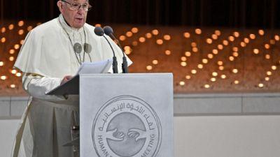 A Abou Dhabi, le pape plaide en faveur de la liberté religieuse