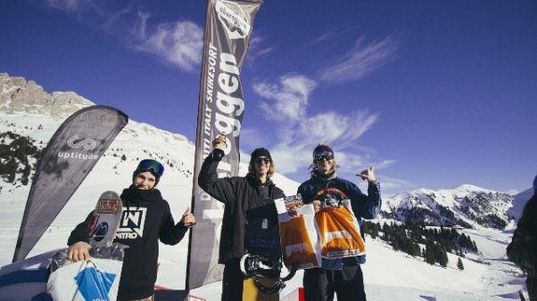 Snowboard:'King Obereggen'il 10 febbraio