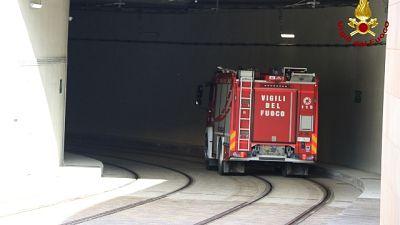 Sopralluogo Vvf tratto sotterraneo tram