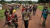 Des miliciens anti-balaka près de Bambo, le 16 août 2017