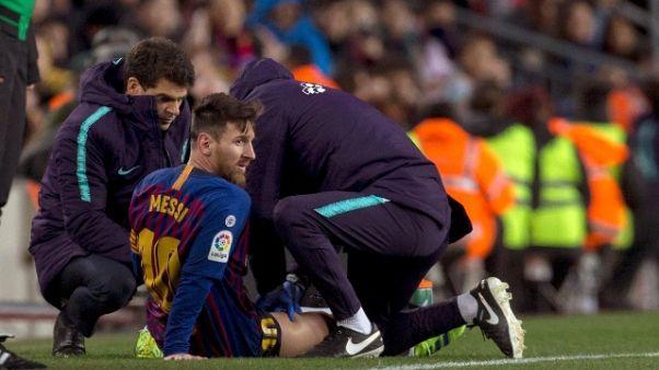 Messi in bilico alla vigilia del Clasico
